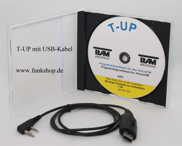 Programmiersoftware T-UP16 COM für TeCom-PS