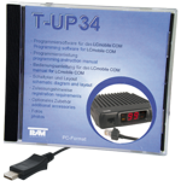 CD-ROM Programmiersoftware mit Programmieradapterkabel LCmobile T-UP34