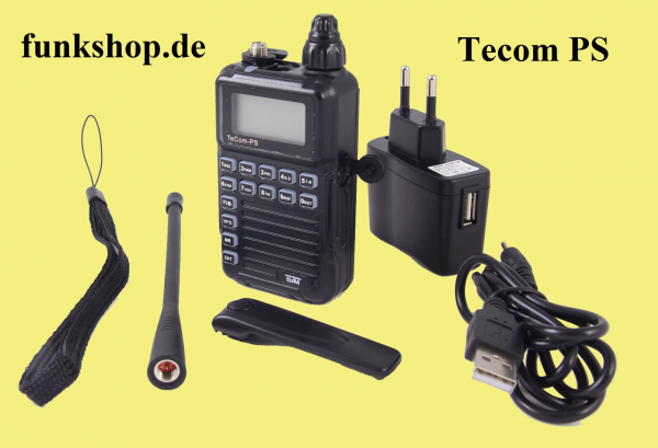 team tecom ps vhf uhf funkger t max 2watt pmr16 freenet. Black Bedroom Furniture Sets. Home Design Ideas