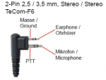 Mikrofone Typ6 mit 2-Pin 2,5 / 3,5 mm Stereo F6